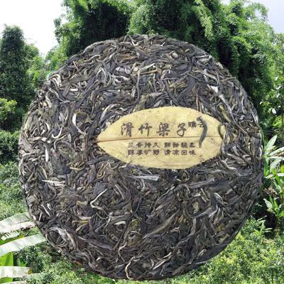 2019滑竹梁子春茶(小树),357克饼茶,西双版纳之巅高山凉韵,包邮