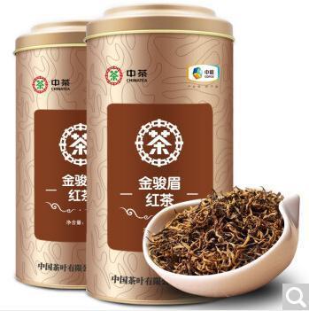 中茶 2019新茶 金骏眉红茶散茶 金骏眉精品罐装红茶250g*2罐