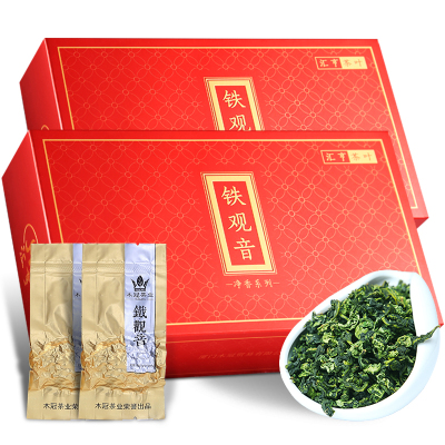 木冠茶叶 净香 安溪铁观音茶叶清香型乌龙茶袋装春茶礼盒装共560g