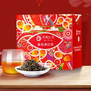 凤牌红茶 云南滇红印象婵娟系列 金丝滇红特级茶叶甜香型60g