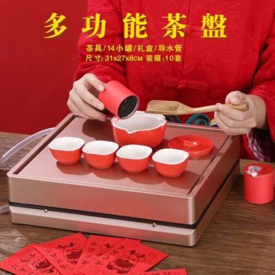 全景多功能空礼盒特级大红袍铁观音肉桂红茶白茶叶礼盒年货送礼