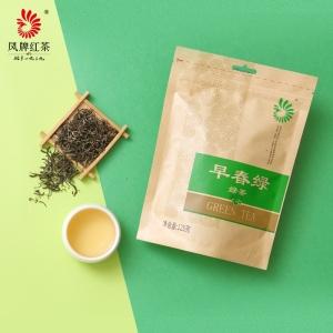 凤牌绿茶 茶叶 云南凤庆早春大叶种绿茶袋装125g 2019年新茶