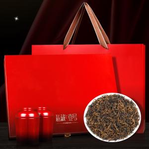 金骏眉红茶礼盒装茶叶一级正宗桐木关正山小种红茶散装金俊眉罐装300克