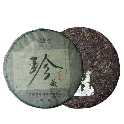 勐库大雪山生态茶 普洱茶生茶 茶坤阁珍藏普洱生茶云南七子饼357g