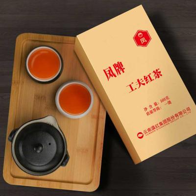 凤牌红茶 茶叶 云南凤庆滇红茶工夫红茶一级500g 奶茶调饮