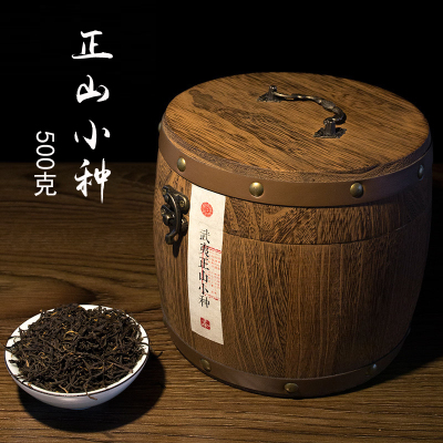 正山小种武夷山桐木关红茶木桶装送礼浓香型茶叶新茶500g