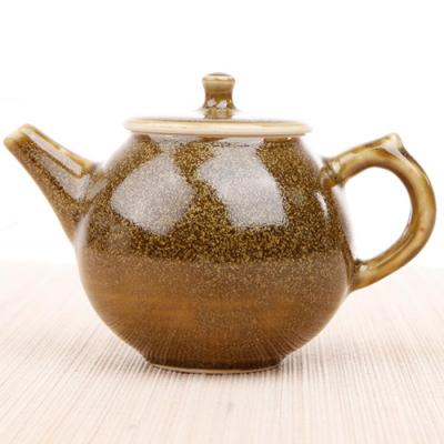 窑变釉-茶叶末单壶