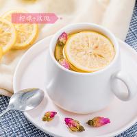 木冠茶叶 绿罐 冻干柠檬片茶叶 花茶水果茶2罐装