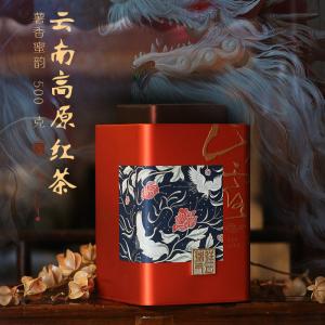 云南凤庆滇红茶古树密香红茶散茶礼盒装500克