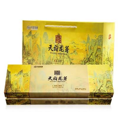 【2019新茶】早春龙芽雀舌绿茶(尊龙)茶叶山水中国风礼盒装