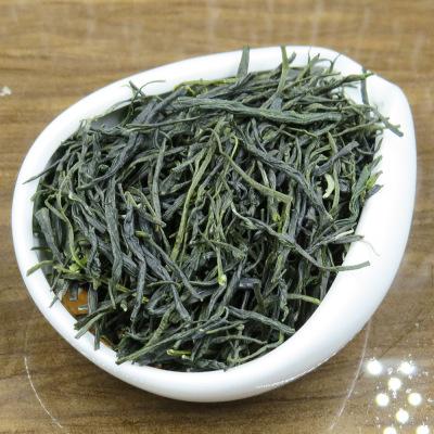 直条绿毛峰 直条茶叶 豆香绿茶 雅安名山高山茶 500g小泡袋装