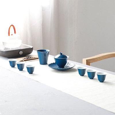悦色之翎羽茶具套组(蓝、红色)