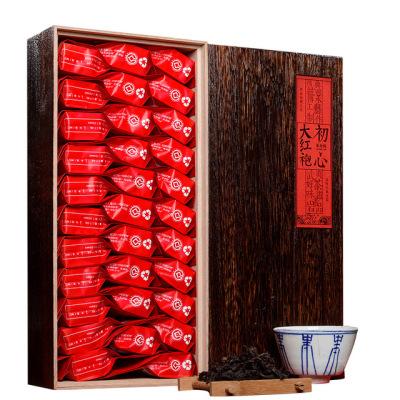 福建武夷山 浓香大红袍 茶叶256g 实木火烧做旧 茶叶礼盒装 武夷岩茶
