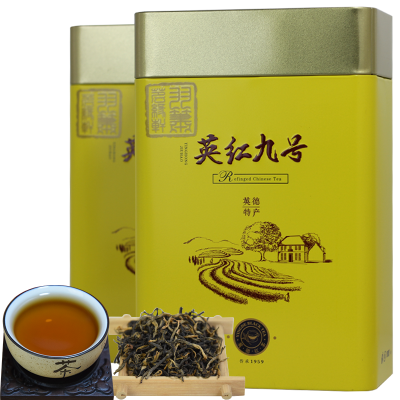 英德红茶英红九号红茶茶叶新茶特级浓香型功夫茶500g罐装广东特产