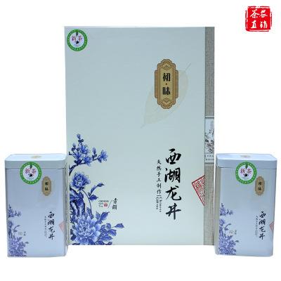 2019新茶叶 春茶绿茶 雨前特级西湖龙井 礼盒装250g罐装 礼品盒【包邮】