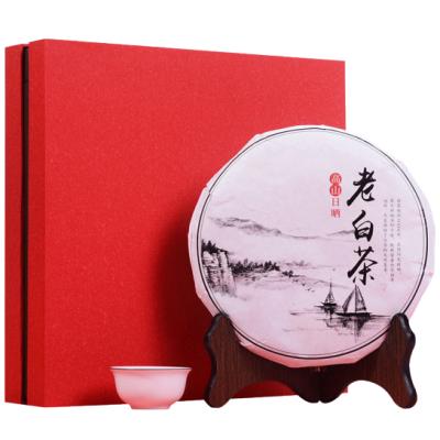 福鼎白茶2012年陈年枣香特级老白茶贡眉茶饼350g礼盒装