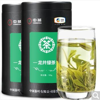中茶 2019明前龙井春茶新茶叶罐装200g绿茶散茶