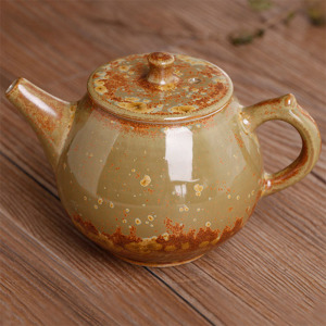 窑变釉-黄金斑单壶