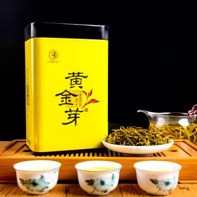 黄金芽 安吉白茶特级雨前绿茶 一级礼盒装 正宗黄金茶叶 50克*2罐