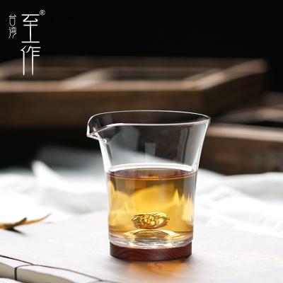 至作内银玻璃公道杯加厚耐热分茶器过滤公杯茶海茶漏套装茶具配件
