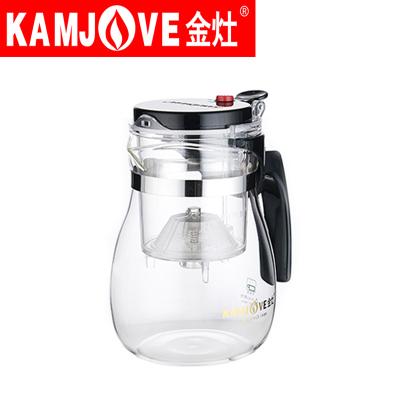 KAMJOVE/金灶TP-757飘逸杯泡茶壶高温耐热玻璃茶具包邮赠茶匙