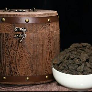 普洱景迈茶化石(碎银子)一公斤送木桶