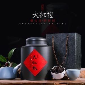 新茶大红袍 浓香型乌龙茶叶武夷岩茶肉桂水仙散装罐装250g礼盒装