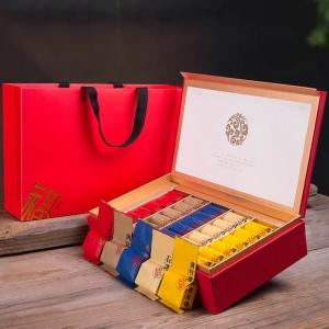 【五福临门】武夷岩茶 特级大红袍 水仙 肉桂 五种口味 茶叶礼盒