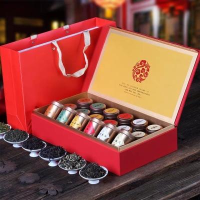 节日茶礼 小罐装茶 特级金骏眉 红茶 龙井 大红袍六款 茶叶礼盒装