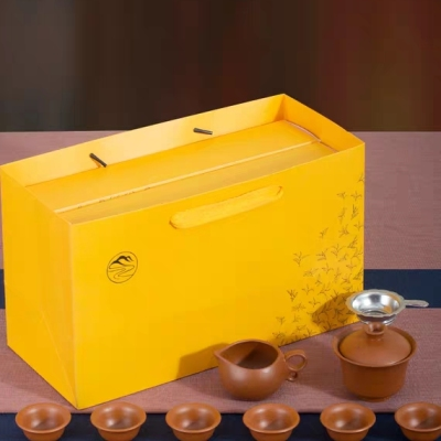 送茶具一套 明前龙井绿茶 茶叶礼盒装春茶新茶散装中秋送礼大份量