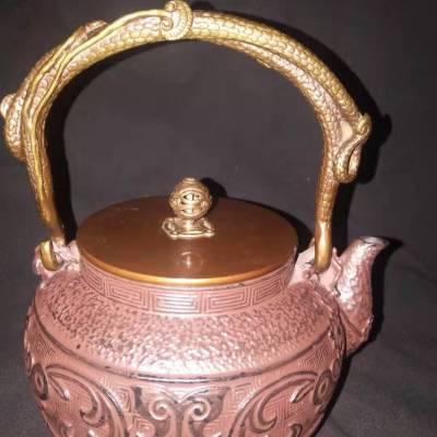龟鹤堂铁壶编码:gh0019,煮茶,烧水利器,容量1,2升
