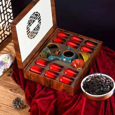 过年送礼长辈教师 送多彩茶具 大红袍 铁观音 金骏眉 茶叶礼盒装