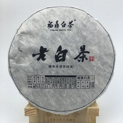 2008老白茶饼350克,蹯溪料、干仓存放,陈香木香药香,回甘甜
