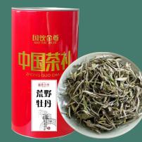 福鼎荒野白牡丹2020特级高山白茶叶花香头采春茶100g罐装大毫散茶