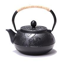 典工堂茶壶0.6梅兰竹铸铁壶日本南部生铁壶无涂层铁茶壶泡茶壶