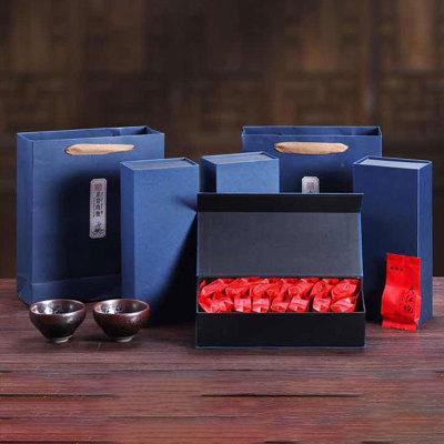 武夷山正宗大红袍正宗乌龙茶自饮500g礼盒装下单送建盏一个