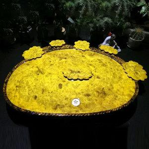 名称:黄金樟 无雕刻 实木茶盘 80-57-5
