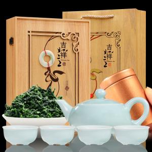 一级铁观音茶叶浓香型兰花香 新茶乌龙茶散装礼盒装250g 送茶具