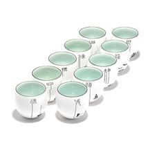 手绘脂白功夫大号茶杯 定窑亚光白瓷单杯 陶瓷创意品茗杯个人杯
