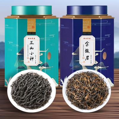 武夷山桐木关正山小种茶叶 正宗蜜香一级金骏眉红茶新茶罐装500g