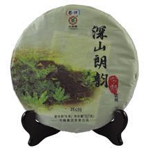 中粮集团 中茶牌圆茶 深山朗韵 布朗老树 云南普洱茶生茶 2015年