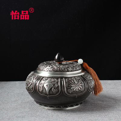 锡罐茶叶罐锡复古金属怡品锡器大号小号密封罐锡盒锡壶定制储存罐
