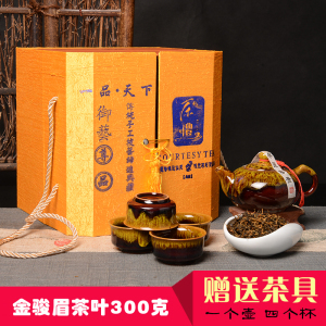 茶叶 金骏眉300克 武夷山桐木关金骏眉红茶袋装礼盒装300克送茶具
