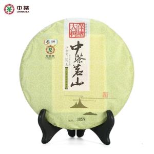 中粮中茶牌 云南普洱茶 2017年中茶茗山保塘大树生茶饼 357g