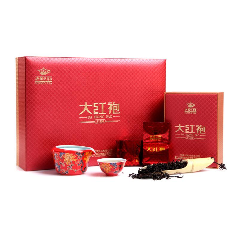 山国饮艺 茶叶 大红袍 武夷岩茶 浓香型 S1500 礼盒装 200g