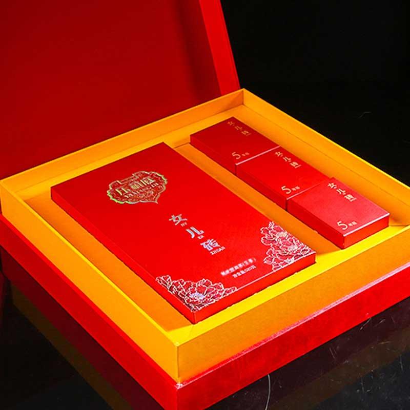 压箱底 女儿砖 生茶 易武 普洱茶 砖茶 孩子成长礼 礼盒茶叶 520g