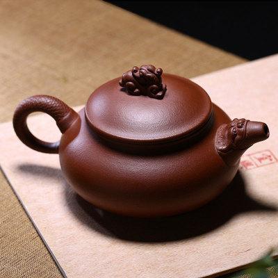 正宗宜兴紫砂壶茶壶茶具茶杯套装龙头壶平低的容量300