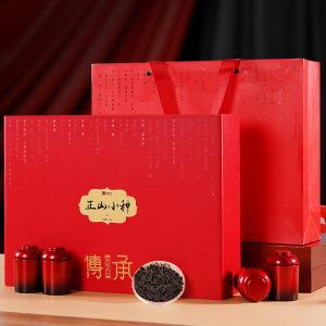中秋茶礼 正山小种红茶 小茶罐30罐*300g茶叶礼盒装 礼品茶