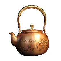 日式纯紫铜养生大铜壶 家和万事兴仿古茶艺纯手工制造煮水壶