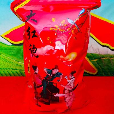 大红袍茶叶武夷岩茶贡茶传统炭焙老茶肉桂大红袍熟茶浓香型散装1袋一斤包邮